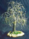 Sal Villano Wire Tree Sculpture - ROVERE CON PIETRE - Albero Wire Sculpture