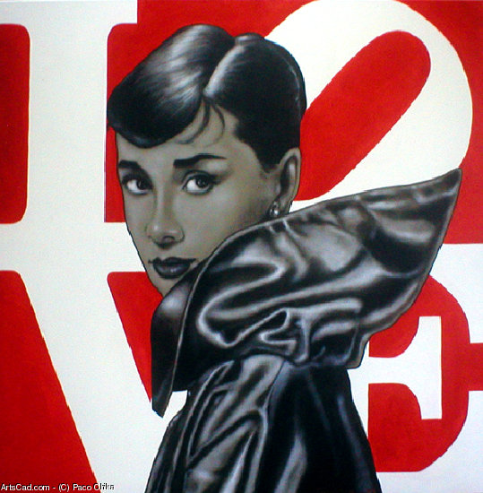 Opere D'arte >> Paco Chika >> AUDREY IN AMORE I