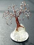 Sal Villano Wire Tree Sculpture - Cristallo Quercia Mini , Beaded wire sculpture albero