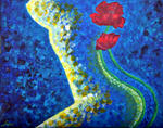 Luxo Fine Art - Astratto Figurato - Bellezza Poppies 2
