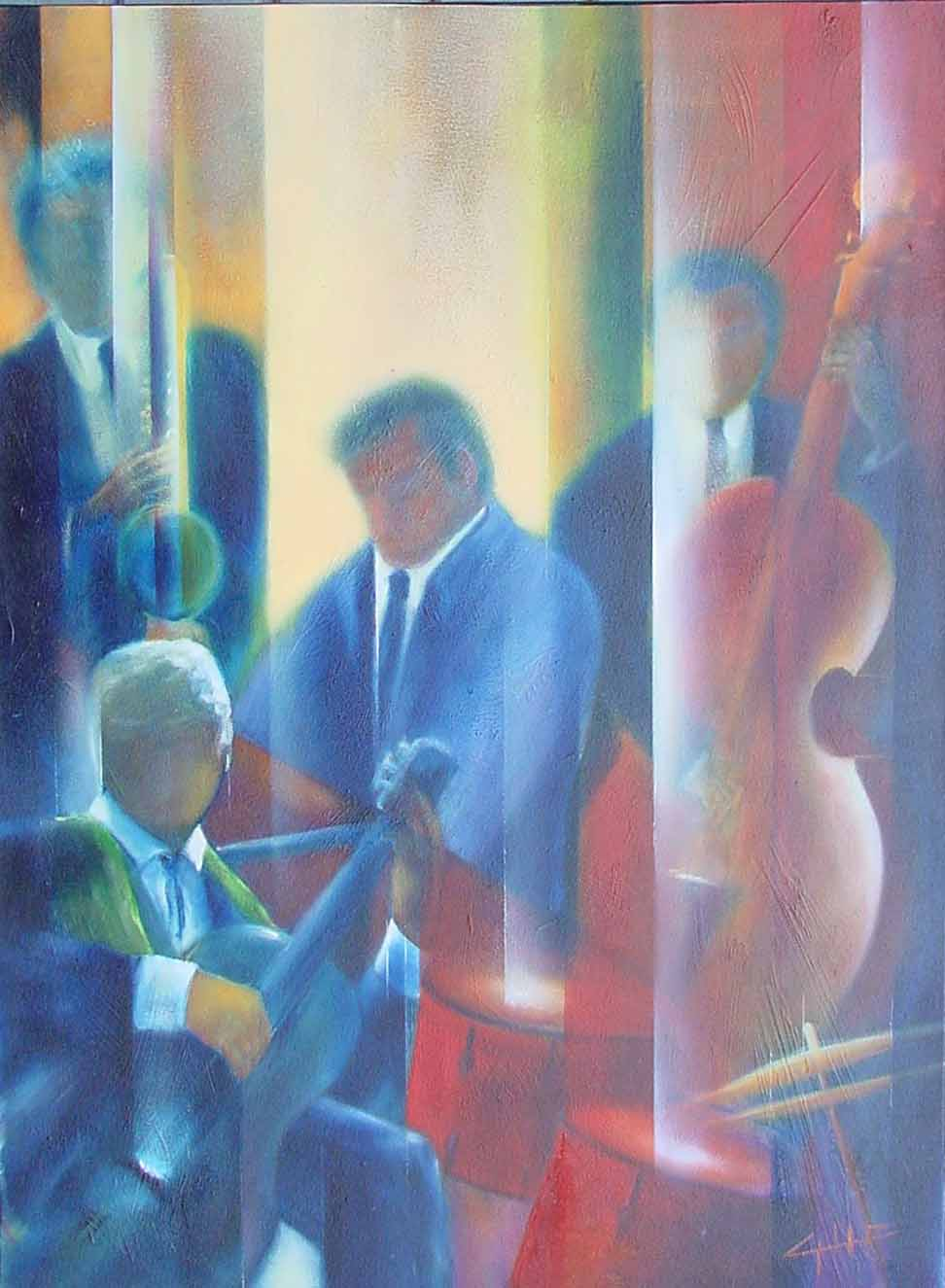 Opere D'arte >> Francis Godefroit >> jazz gruppo musicale