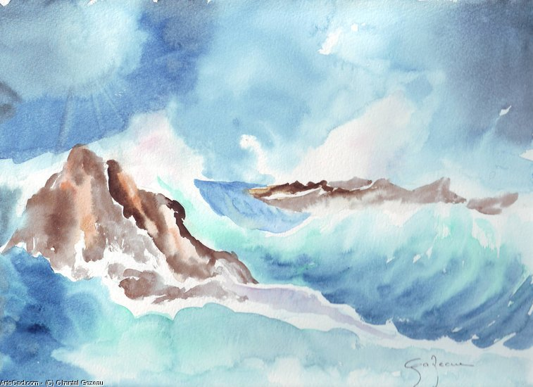 Opere D'arte >> Chantal Gazeau >> Mare agitato