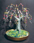 Sal Villano Wire Tree Sculpture - perline quercia  -   filo  albero  scultura