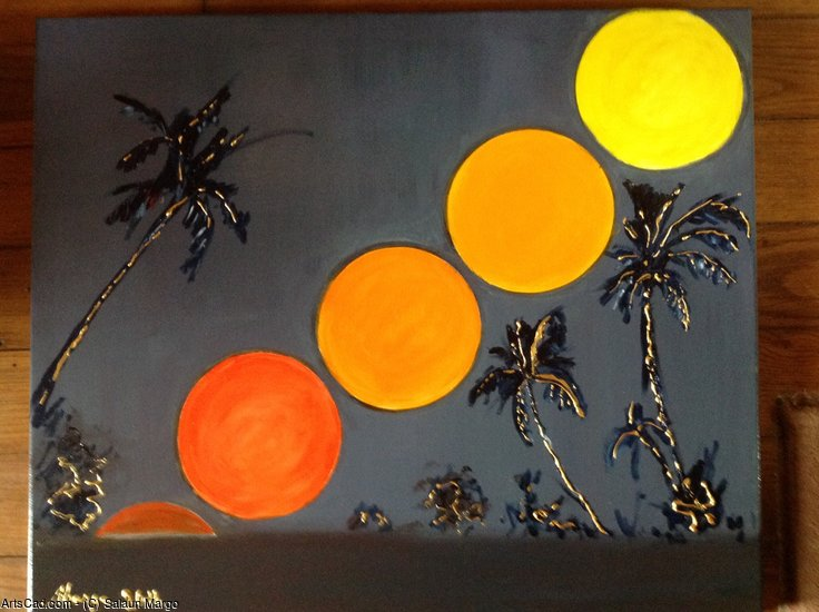 Opere D'arte >> Salaun Margo >> Sunset sole immaginario