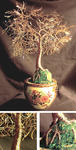 Sal Villano Wire Tree Sculpture - Asian foglia d oro