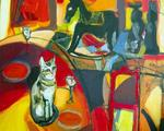 Jacques Donneaud - gatto Pensieroso