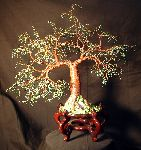 Sal Villano Wire Tree Sculpture - cascata No  4   filo  albero  scultura