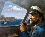 Yoo Choong Yeul Art - St. Simons Island Sea Captain 4