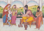 Classical Indian Art Gallery - RAJ GURU Bambino benedicente KRISHNA