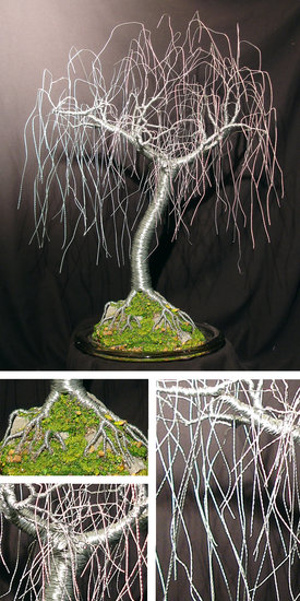 Opere D'arte >> Sal Villano Wire Tree Sculpture >> gentle willow - scultura albero filo , da sal villano