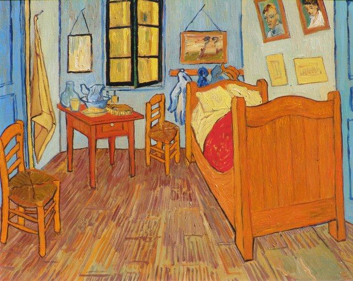 Opere d 39 arte otakar hude ek vincent s camera da letto ad arles copia dell opera di - La camera da letto van gogh ...