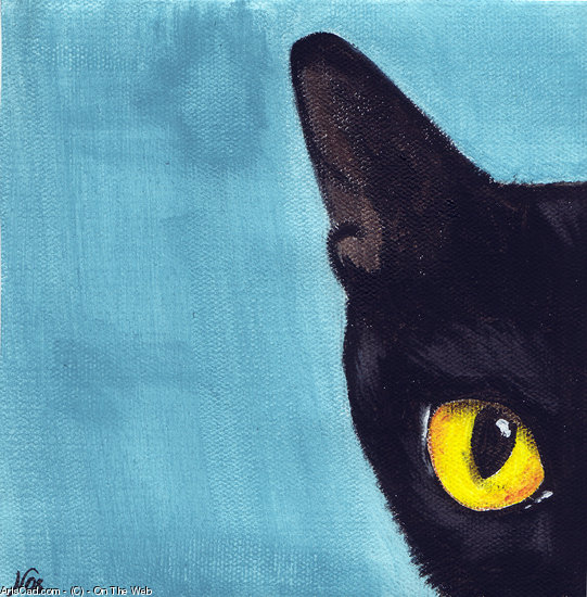 Opere D'arte >> µ On The Web >> gatto mediante azzurro