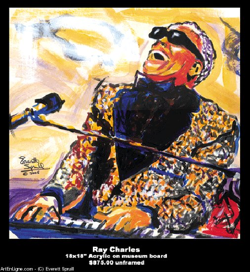 Opere D'arte >> Everett Spruill >> Ray Charles