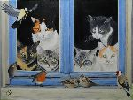 Chantal Rousselet - I gatti finestra  su