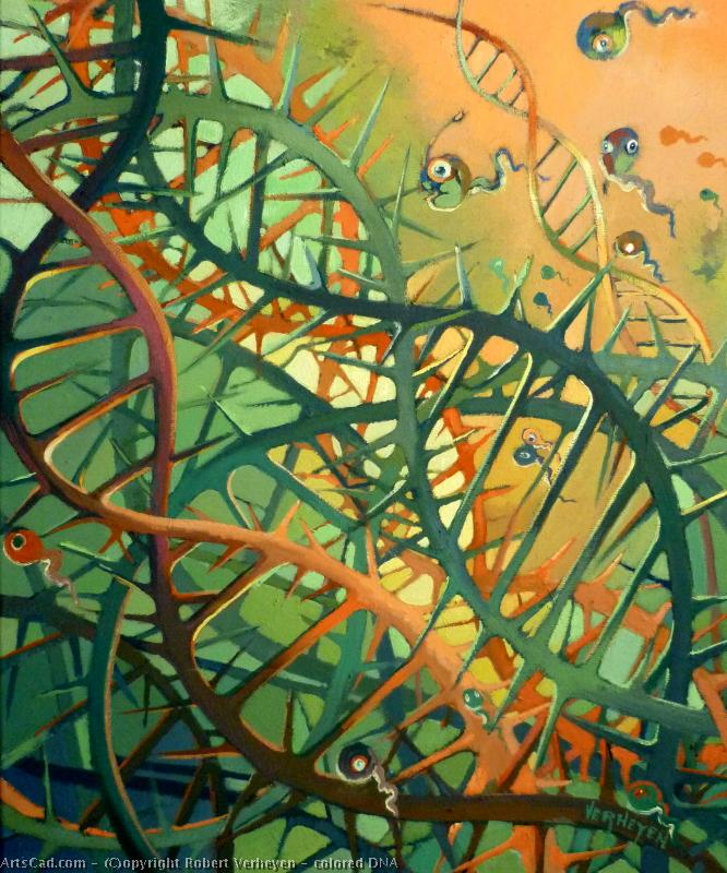 Opere D'arte >> Robert Verheyen >> colorato DNA